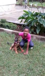 3a - Aleska von der Weidenstrasse with her friend in Addis Ababa